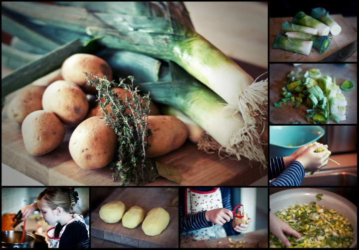 Potato Leek Collage