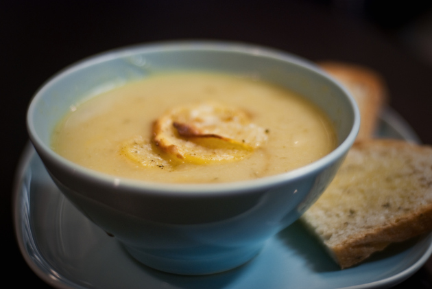Potato Leek Soup with Rosemary Toast 2