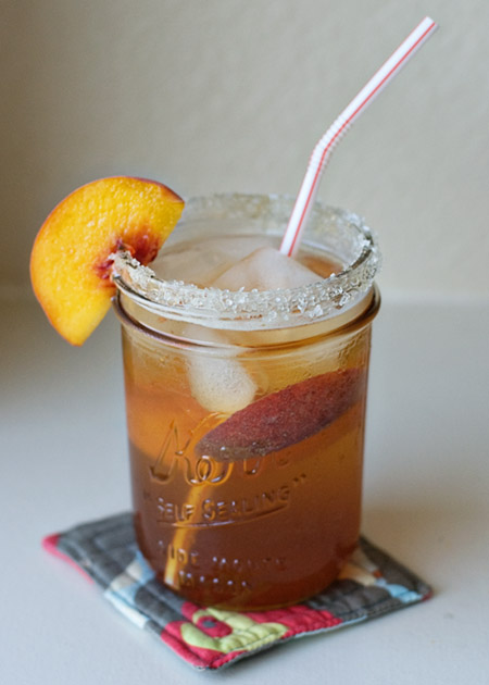 Pimms and Peach