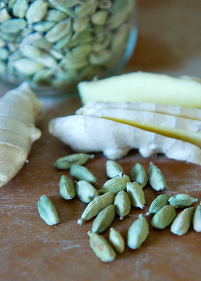 Cardamom and ginger