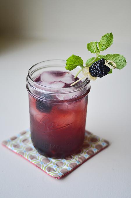 Blackberry ginger cooler